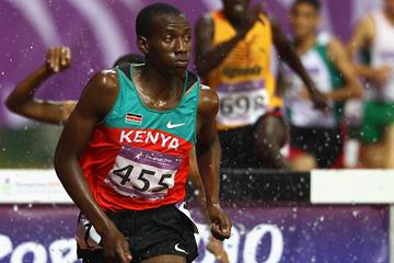 Peter Mutuku on his way to gold in the 2000m steeplechase at the 2010 Youth Olympic Games (Getty Images)