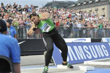 Valerie Adams in the 2011 DN Galan BIG SHOT (Hasse Sjogren Deca Text & Bild)