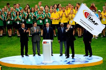 Handover of IAAF Flag between Moscow and Beijing (IAAF)