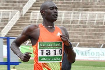 David Rudisha at the Kenyan Olympics Trials (Muthoni Njuki (Capital FM))