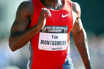 Tim Montgomery at US Nationals (Kirby Lee for the IAAF)
