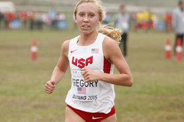 USA's Lauren Gregory in the junior women's race at the IAAF World Cross Country Championships, Guiyang 2015 (Getty Images)