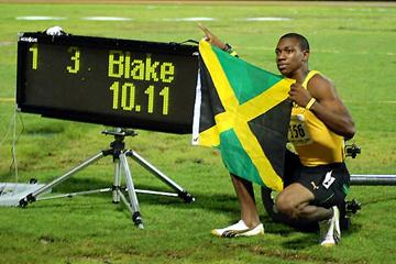 Yohan Blake won the Carifta Games Under-20 title in a Jamaican Junior record of 10.18 in the first round and lowered it to 10.11 in the final. (Anthony Foster)