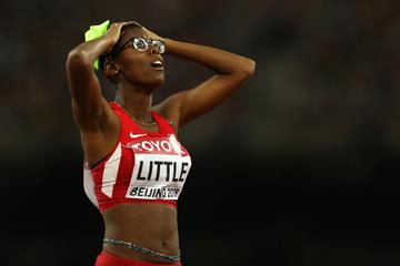 Shamier Little in the 400m hurdles at the IAAF World Championships, Beijing 2015 (Getty Images)