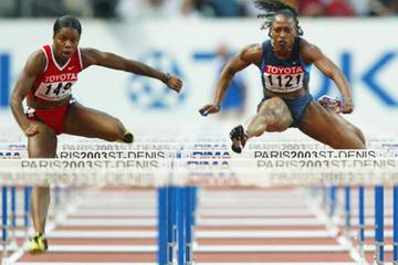 Gail Devers fails to qualify for the 100m Hurdles final (Getty Images)