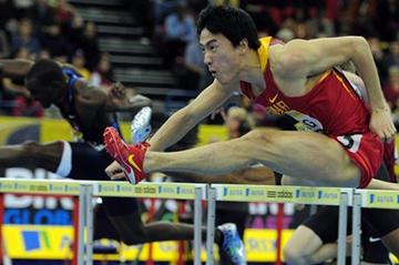 Liu Xiang on his way to victory in Birmingham (Getty Images)