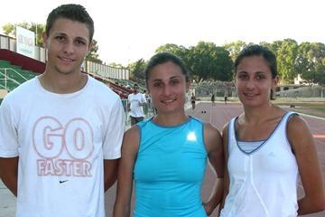 Malta World Junior team - Twin sisters Francesca and Martina Xuereb with Owen Camilleri (Paul Grech)