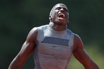 Tyreek Hill completes his sprint double at the US junior championships (Kirby Lee - Image of Sport)