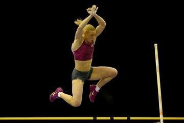Nikoleta Kiriakopoulou of Greece wins the pole vault (Getty Images)