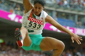 Anju Bobby George of India wins bronze in the long jump (Getty Images)