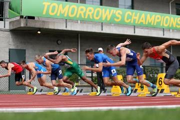 The decathlon 100m at the 2014 IAAF World Junior Championships in Eugene (Getty Images)