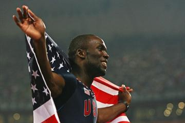 LaShawn Merritt celebrates his Olympic 400m victory (Getty Images)