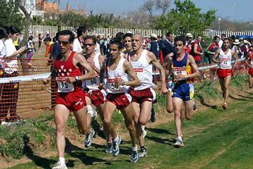Fabián Roncero leads the 2003 Spanish National XC long race which he won (José Pérez Gómez)