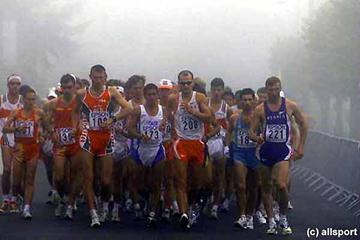 50 km men's field in Mezidon Deauville 1999 (Getty Images Allsport)
