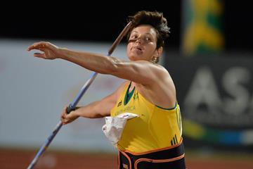 Sunette Viljoen in Durban winning her fifth African title (Roger Sedres)
