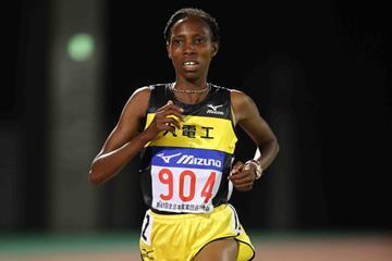 Kenyan distance runner Sally Chepyego (Getsuriku)