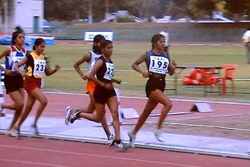 Sunita Rani (195) leads the 10,000m in Patiala, India (Rahul Pawar)