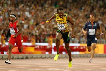 Jamaica wins gold in the 4x100m at the IAAF World Championships, Beijing 2015 (Getty Images)