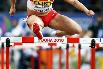 Priscilla Lopes-Schliep of Canada competes in the 60m Semi-Final (Getty Images)