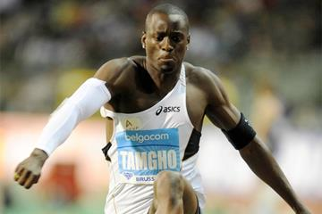 Teddy Tamgho on his way to victory at the 2010 Diamond League meeting in Brussels (Jiro Mochizuki)