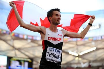 Canadian race walker Ben Thorne at the IAAF World Championships, Beijing 2015 (Getty Images)