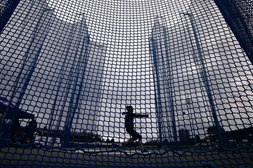 Action from the women's hammer competition (Getty Images)