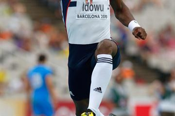 Phillips Idowu sailing to a career best 17.81m to take the European Triple Jump title (Getty Images)