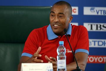 Colin Jackson at an IAAF Ambassadors Press Conference - Moscow 2013 (Getty Images)