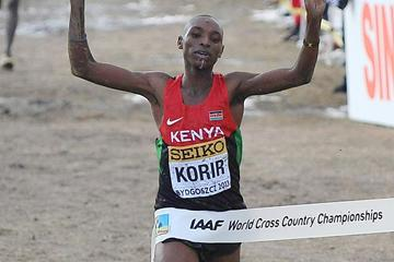 Japhet Korir (KEN) winning the 2013 IAAF World Cross Country Championships senior men's title  (Getty Images)