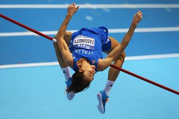 Marco Fassinotti in the high jump at the 2014 IAAF World Indoor Championships in Sopot (Getty Images)