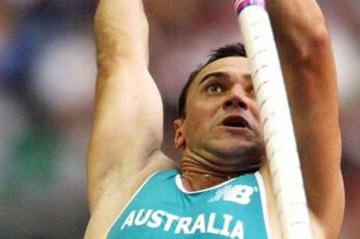 Dmitry Markov of Australia in the pole vault (Getty Images)