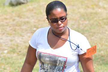 Barbadian athletics journalist Petra Gooding ()