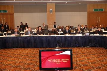 First day of the IAAF Council Meeting in Daegu (Daegu 2011 LOC)