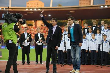 IAAF President Sebastian Coe at the 2015 IAAF Diamond League final in Zurich (Jean-Pierre Durand)
