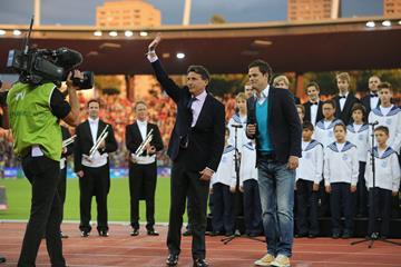 IAAF President Sebastian Coe at the 2015 IAAF Diamond League final in Zurich (Jean-Pierre Durand)