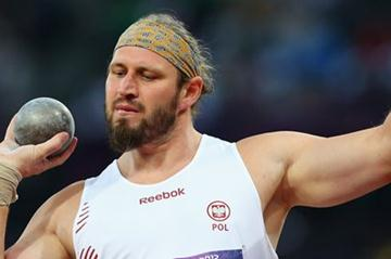 Tomasz Majewski of Poland competes in the Men's Shot Put Final on Day 7 of the London 2012 Olympic Games at Olympic Stadium on August 3, 2012 (Getty Images)