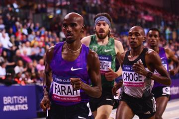Mo Farah at the 2016 Glasgow Indoor Grand Prix (Getty Images)