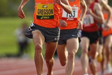 Ryan Gregson towards winning the 1500m in Hobart (Getty Images)