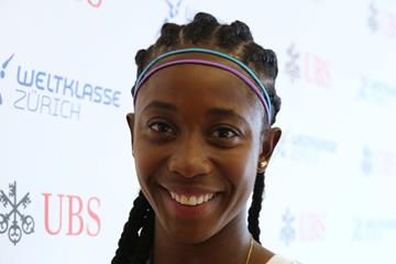 Shelly-Ann Fraser-Pryce ahead of the 2015 IAAF Diamond League final in Zurich (Jean-Pierre Durand)