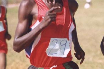 Simon Kiptum (KEN) wins the 10,000m at the Rift Valley High School champs (David Macharia)