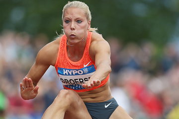 Nadine Broersen in the heptathlon 100m hurdles at the Hypo Meeting in Gotzis (Getty Images)