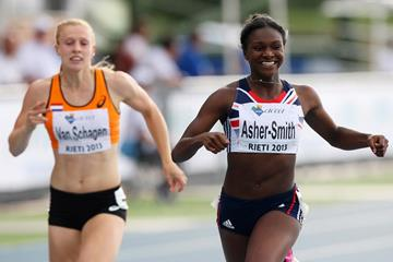 Dina Asher-Smith winning the 200m at the 2013 European Athletics Junior Championships (Getty Images)