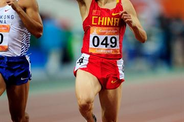 China's Lao Yi takes the Asian Games 100m title in Guangzhou (Getty Images)