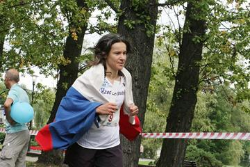 Michaela Dimitriadu at the 2012 IAU World and European 24 Hour Championships (Organisers)