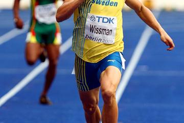Johan Wissman of Sweden competes in the men's 400m heats at the IAAF World Championships (Getty Images)