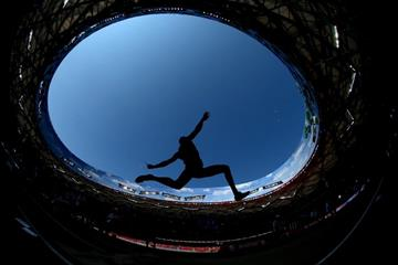 The decathlon long jump at the IAAF World Championships, Beijing 2015 (Getty Images)