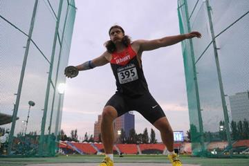 Henning Prufer in the boys' Discus Throw at the IAAF World Youth Championships 2013 (Getty Images)