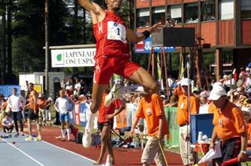 "Godfrey ""Khotso"" Mokoena of South Africa leaps 8.39m - Lapinlahti (Paula Noronen)"