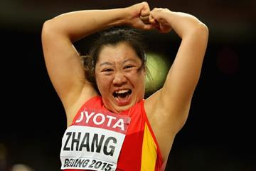Zhang Li in javelin qualifying at the IAAF World Championships, Beijing 2015 (Getty Images)
