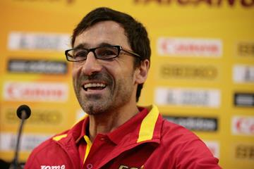 Jesus Angel Garcia at the Taicang 2014 press conference (Getty Images)